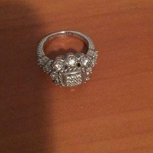 Judith Ripka silver ring